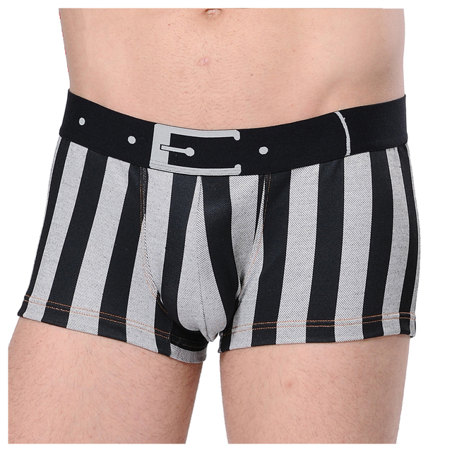 b1465d06c0 XUBA Fashion Underwear Men Striped Men s Trunk Shorts Boxer Shorts For Man