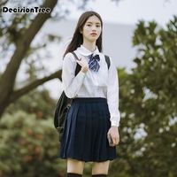 eaee9bf9f4 ... falda uniforme cosplay estudiante jk Academia diez. 2019 Summer  Japanese Korean Version Short Skirts School Girl Pleated Half Skirt School  Uniform ...
