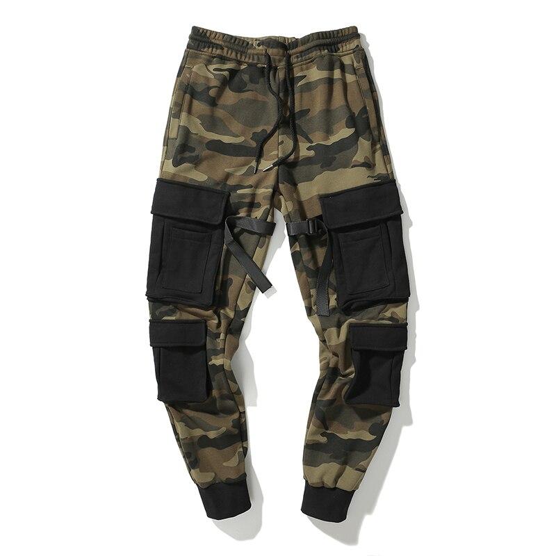 2019 nouveau Design pantalon Street Wear Hip Hop poches Joggers Cargo pantalon hommes survêtement pantalon Camouflage hommes vêtements Camo pantalon