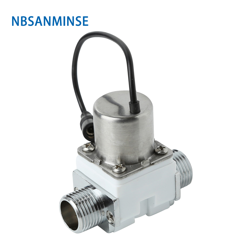 Nbsanminse Sm208b2 G1/2 Pulse Solenoid Valve Positive Pulse Open Induction Sanitary Ware Bathroom Faucet