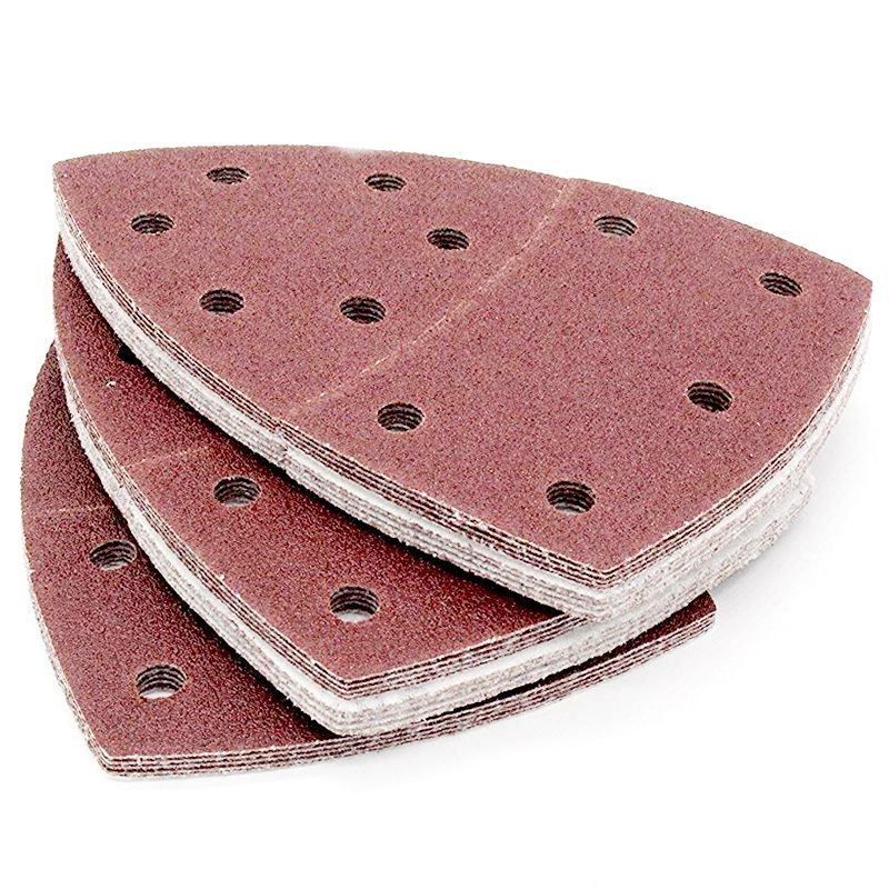 Image 3 - Drop shipping 40PCS Sandpaper  Sheets Hook and Loop Sanding Sheets 105 x 152mm 11 holes Grain Disk Sandpaper 60 240Grits Sanding-in Abrasive Tools from Tools