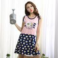 Brand Sleepwear Sweet Girls Nightgown Female Cotton Sleeveless Lounge Dress Young Women's Sleepshirts On Sale