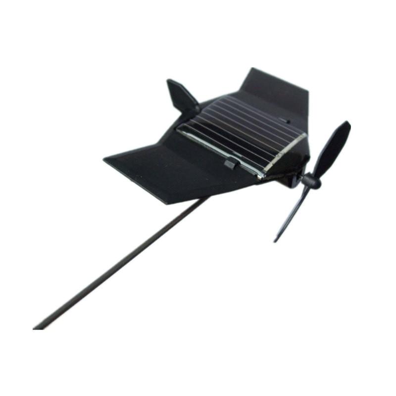 Model Plane Solar Powered Toys Black Hawk Solars Aircraft  Learning Education Mechanical Christmas Gift For Children