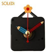 Бесшумные кварцевые часы, механизм движения, запасные части с крюком, карандашом, цветами, ручками, настенные часы, механические часы, запчасти, набор инструментов