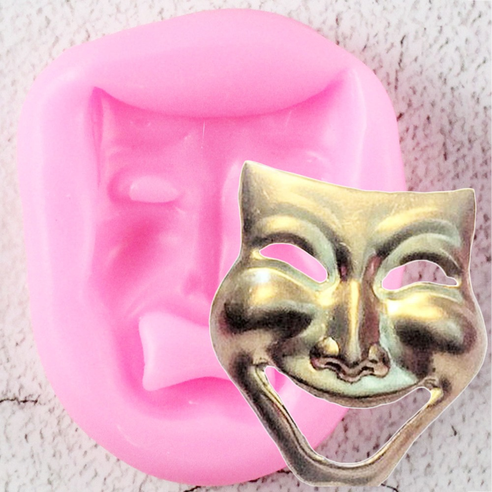 DIY Comedy Mask Silicone Mold Fondant Molds Cake Decorating Tools Mask Chocolate Gumpaste Mould Polymer Clay Resin Molds