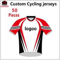 Quality Custom Cycling Jersey Shirt Sublimation DIY Bike Clothing Ciclismo Bicycle Short Sleeve Jersey With Bibshorts /50 Pieces