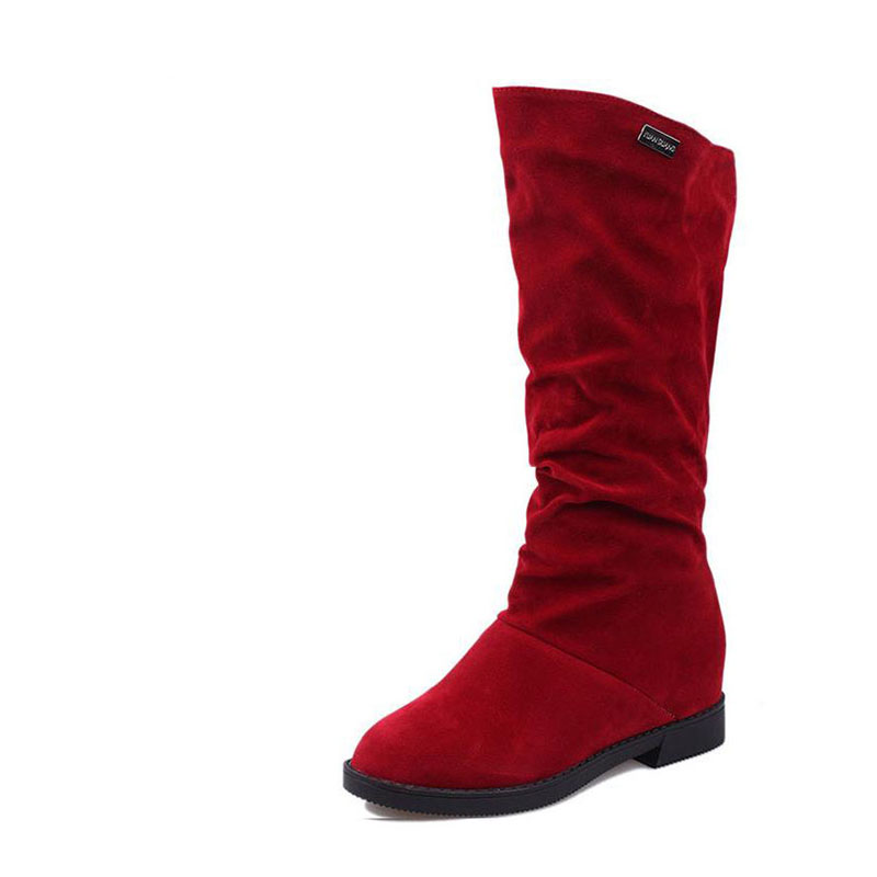 2017 autumn/winter boots suede boots flat with the increase in high boots USES with flat tube dress sexy boots total businessential 1 pre intermediate workbook with key