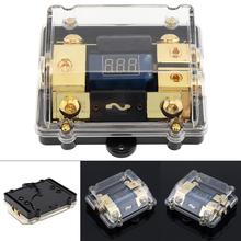 12V 100A 1 IN 2 Way Copper Plated Car Stereo Audio Power Fuse Holder with High-Definition Display for Car Boat and Other Vehicle цена и фото