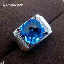 Kjjeaxcmy Fijne Sieraden 925 Sterling Zilver Met Natuurlijke Anker, Mannelijke Ringen, Zilver Sturen Certificaat Ondersteuning Professionele