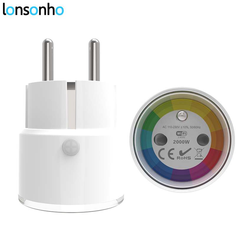 цена Lonsonho Smart Plug Wifi Smart Socket Poland France Euro UK US Outlet 10A Works With Google Assistant Home Mini Alexa IFTTT
