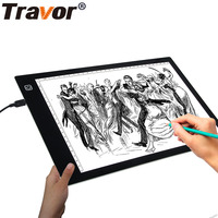 Travor LED Tracing Light box Dimmable A4S USB Powered Light Pad Tracing LED Light Board for Drawing Tracing Sketching