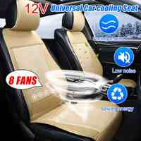 8 Built-in Fan 3 Speeds Cooling Car Seat Cushion Cover Air Ventilated Fan Conditioned Cooler Pad Seat Cushion Covers