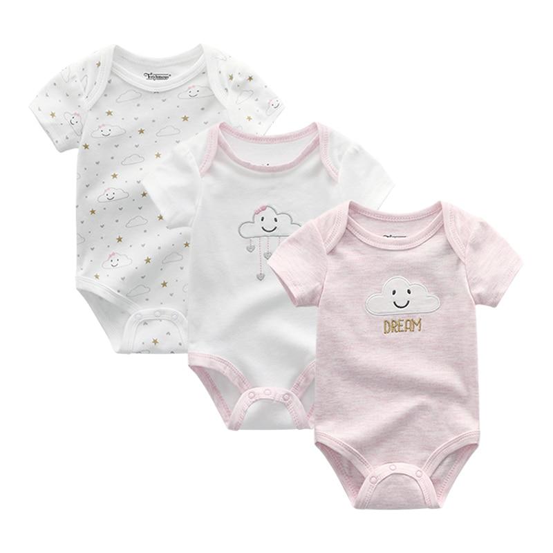 2021 3PCS/Lot Baby Boy Clothes BodysuIts Baby Girl Clothes Unicorn Girls Clothing Unisex 0-12M Baby Bodysuits Roupas de bebe 2