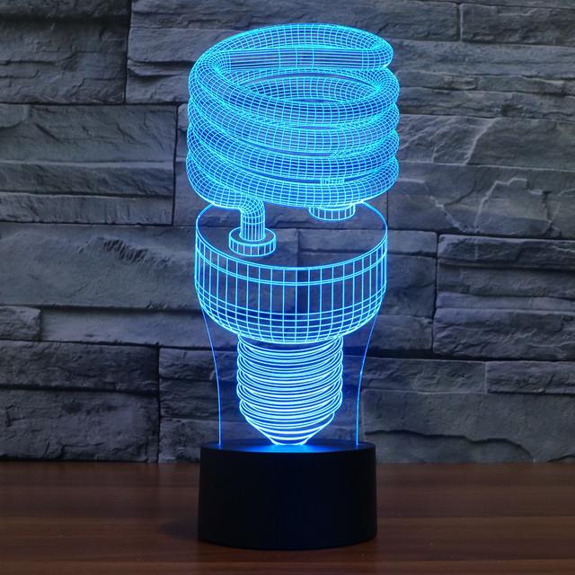 Moda clássico 3D Luz Da Noite LEVOU Lâmpada De Poupança de energia Sala de estar Do Quarto acrílico Lâmpada Adulto Belo Presente Presente para crianças
