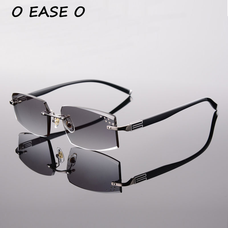 2015 Rimless Male Sunglasses Men High Quality Alloy and Acetate Sunglasses With 1.61 Asphereic Tinted Sunglasses Lenses 58038
