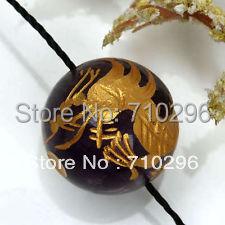 56pcs Dragon Carved stone beads 14mm Black agat e Clear quartz gem stone carving dragon pendant bracelets beads nice jewlery