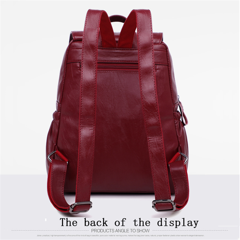HTB1w4McfqQoBKNjSZJnq6yw9VXaH LANYIBAIGE 2018 Women Backpack Designer high quality Leather Women Bag Fashion School Bags Large Capacity Backpacks Travel Bags