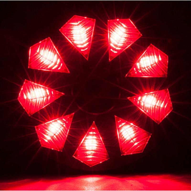 MZYRH 9 dijamantno stražnje svjetlo 3 načina vodootporan sigurnosni - Biciklizam - Foto 4