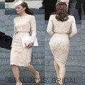 Luxo 2016 Sereia Mãe dos Vestidos de Noiva Com Mangas Longas Para O Casamento Lace Plissados Vestidos de Festa À Noite Vestido Formal