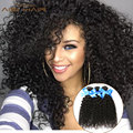 Человеческих Волос Weave Kinky Курчавый Бразильский Роза Волос Natural Color Kinky Вьющиеся Волосы Девственницы Необработанные Курчавые Волны для Черной Женщины