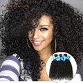 Human Hair Weave Kinky Curly Brazilian Rosa Hair Natural Color Kinky Curly Virgin Hair Unprocessed Kinky Wave for Black Woman