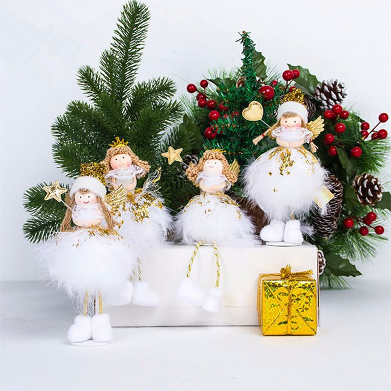 aliexpresscom buy merry christmas angel doll toy ornament diy crafts christmas tree decorations for home xmas noel new year decorations kids gifts from