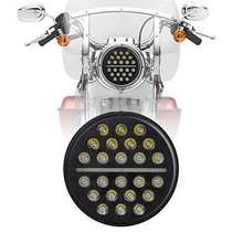 7inch LED Projection Headlight – Black – Fits All 7″for Harley Davidson and for Indian Headlight Buckets For Jeep Wrangle JK TJ