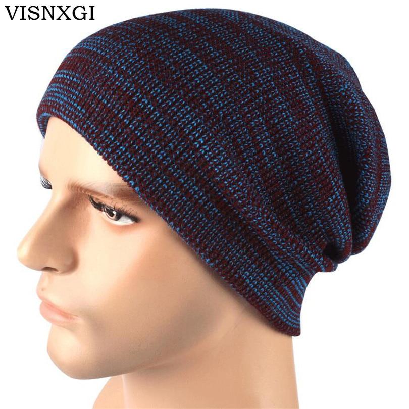 Visnxgi Warm Knitted Hat Women Winter Hat For Women Skullies Beanies
