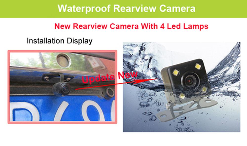 E-ACE Car Dvr Rearview Camera Mirror Auto Dashcam Video Recorder Automobile Full HD1080P Camcorder Dual Camera Lens Registrator 40