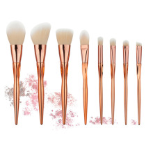 8PCS Heart Shape Rosegold Makeup Brush Set Pro Foundation Powder Contour Eyeshadow Blush Crease Concealer Makeup Brushes Kits