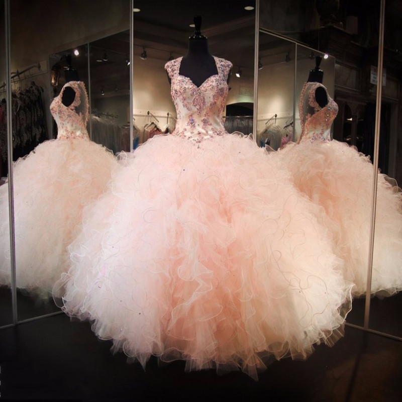 b7716f0f02 2017 New Arrival Ball Gown Organza With Beads Quinceanera Dresses Dresses  15 Years Vestidos De 15 Anos Party Gowns-in Quinceanera Dresses from  Weddings ...