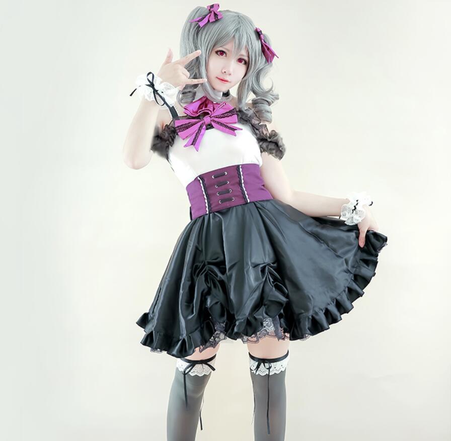 Les IDOLM @ STER cendrillon Anime Cosplay Kanzaki Ranko Halloween fête femme japonais gothique doux Lolita robe Cosplay Costume