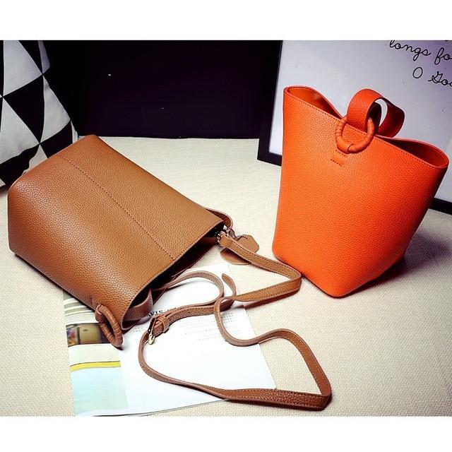 84608a8e7236 Women s Soft Genuine Leather Handbag High Quality Women Shoulder Bag Luxury  Brand Tassel Bucket Bag Fashion Women s Handbags
