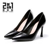 Ainer-แมวRoymedดังนั้นเคทรองเท้าส้นสูงผู้หญิงรองเท้าผู้หญิงปั๊มกริชผู้หญิงชี้นิ้ว