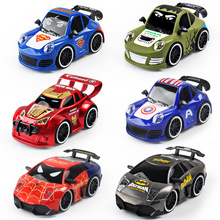 4CH Super Hero Spiderman Car Toys Romote Control Car Vehicle Children Kids Eletric RC Toys Gift