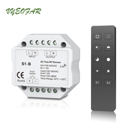 AC Triac LED Dimmer 220V 230V 110V Wireless RF Dimmable Knob Switch With 2.4G Remote Controller for Single Color LED Bulb Lamps