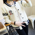 De DoveFactory direct new winter sweater Korean Institute Ms. round neck long-sleeved knit cardigan sweater jacket