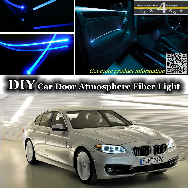 US $20 84 17% OFF|For BMW 5 M5 F10 F11 F07 interior Ambient Light Tuning  Atmosphere Fiber Optic Band Lights Door Panel illumination (Not EL  light)-in