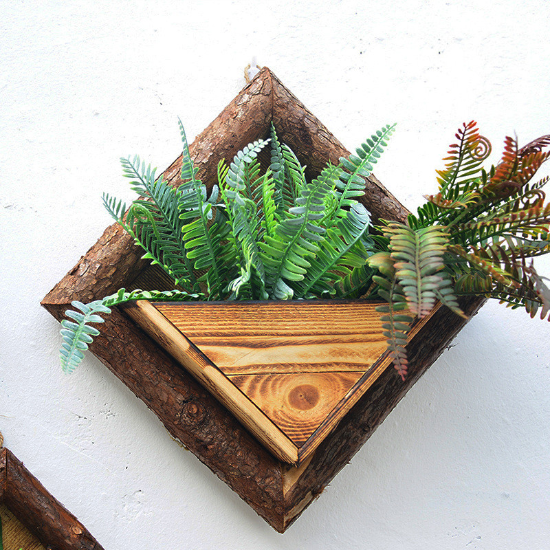 WCIC marco hecho a mano plantas suculentas madera pared Artificial ...