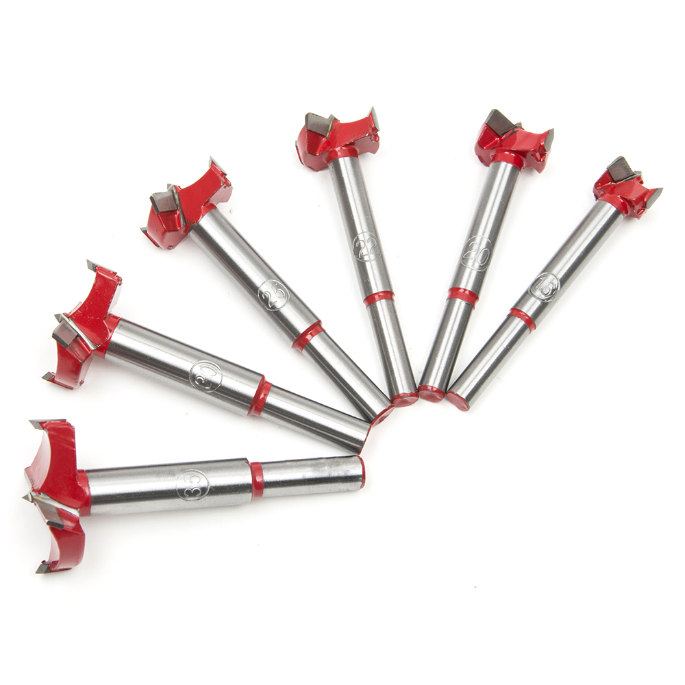 Furniture Accessories 6pcs Hole Saw Cutter Drill Bit Auger Drilling Woodworking Kit Opener Triangular Hole