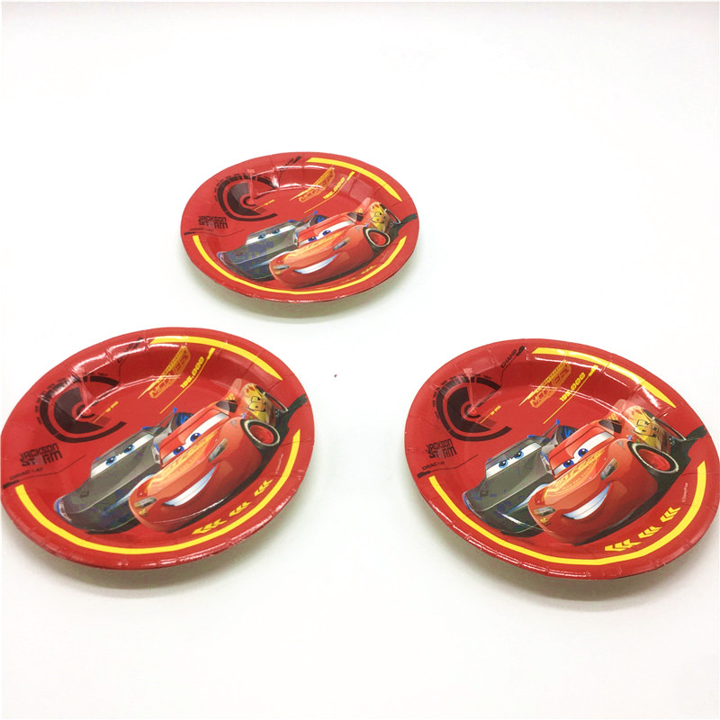 High Quality Disney Cars Theme Cup+Plate+Napkin+Cap+Gift Bag Event Party Birthday Party McQueen Horns Decoration Supply 107Pcs