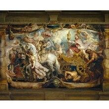 Картины на холсте(Рубенс Триумф церкви) Высокое качество живопись Monder art Украшение стены prits для комнаты 13-Zjyh-(116