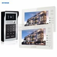 DIYSECUR 1024 x 600 7 inch HD TFT LCD Monitor Video Door Phone Video Intercom Doorbell 300000 Pixels Night Vision Camera RFID