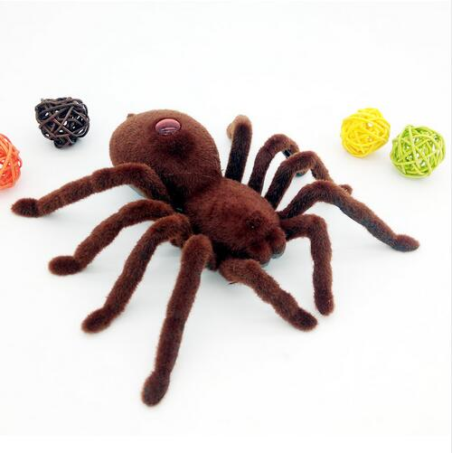 Child Play Toy Best Gift Cute Remote Control Toys Spider 2CH Infrared RC Realistic Shocker Spider Prank Toy Best Chrismas Gift