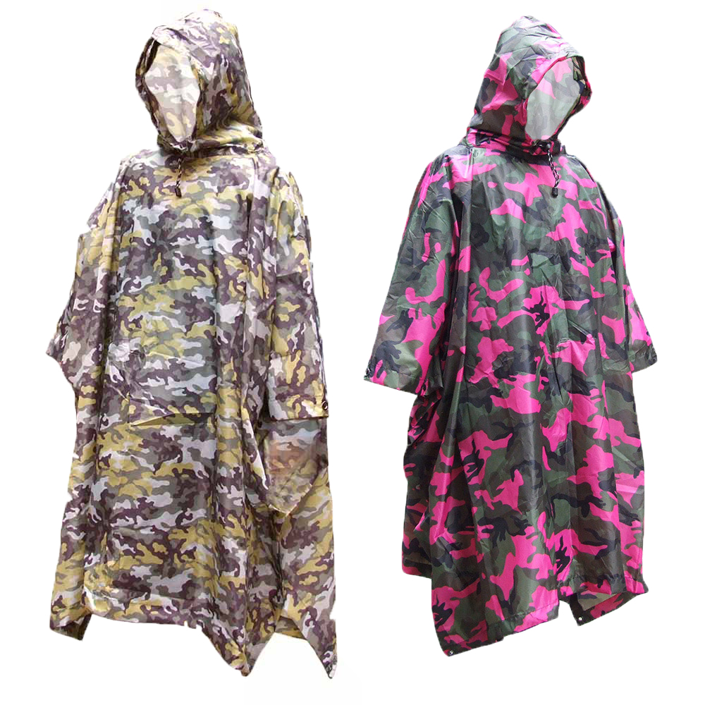 Energetic 3 In 1 Multifunctional Raincoat Outdoor Travel Rain Poncho Rain Cover Waterproof Tent Awning Camping Hiking Sleeping Bag Matching In Colour Sleeping Bags Camp Sleeping Gear