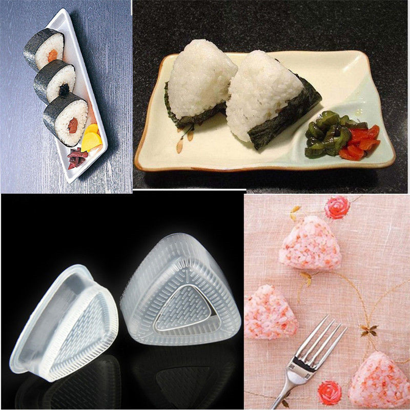 2PCS/1 Set Triangle Form Sushi Mold Onigiri Rice Ball Bento Press Maker Mold DIY Tool