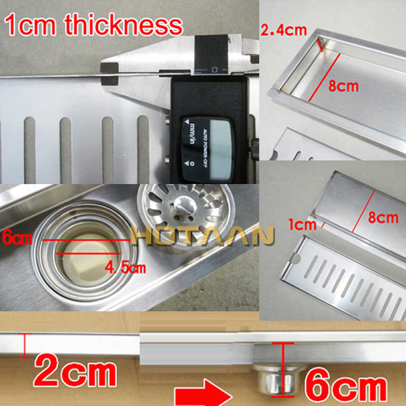 شحن مجاني العلامة التجارية الجديدة 40 سنتيمتر حمام من الفولاذ المقاوم للصدأ المطبخ دش ساحة الطابق النفايات صر الصحية الطابق استنزاف YT-2106