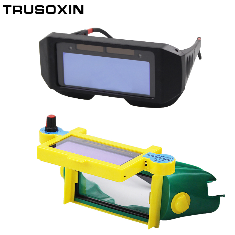 Solar Auto Darken Shading Welder Eyes Mask Helmet Eyes Goggle/Welder Glasses for ARC TIG MMA MIG MAG Welding Machine welder helmet mag tig grinding function polished chrome for free post