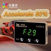 Автомобиль педали скорости ускорителя Мощность Booster светодиодный цифровой электронный контроллер дроссельной заслонки для TOYOTA COROLLA RUMION 2014,