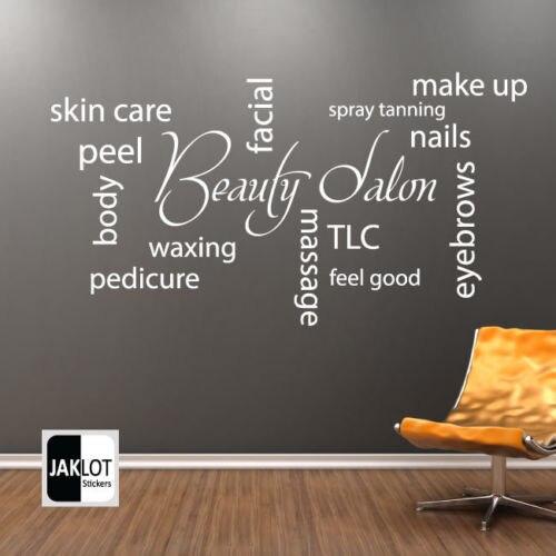 beauty salon collage vinyl wall decal barbershop hair shop salon